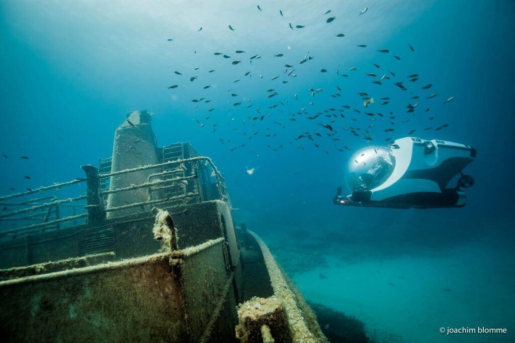 Private submarine wreck diving